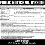 Public Sector Organization Karachi Jobs