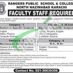 Rangers Public School Karachi Jobs
