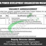 AJK Power Development Organization Muzaffarabad Jobs