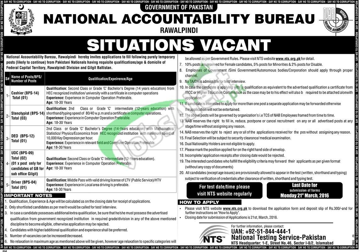 NAB Rawalpindi Jobs