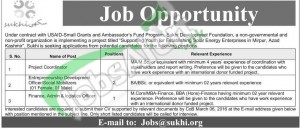 Situations Vacant in  Sakhi Development Foundation 1 May 2016 Azad Kashmir Eligiility Criteria