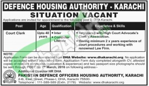 Situations Vacant in DHA Karachi 2016 Application Form www.dhakarachi.org Latest