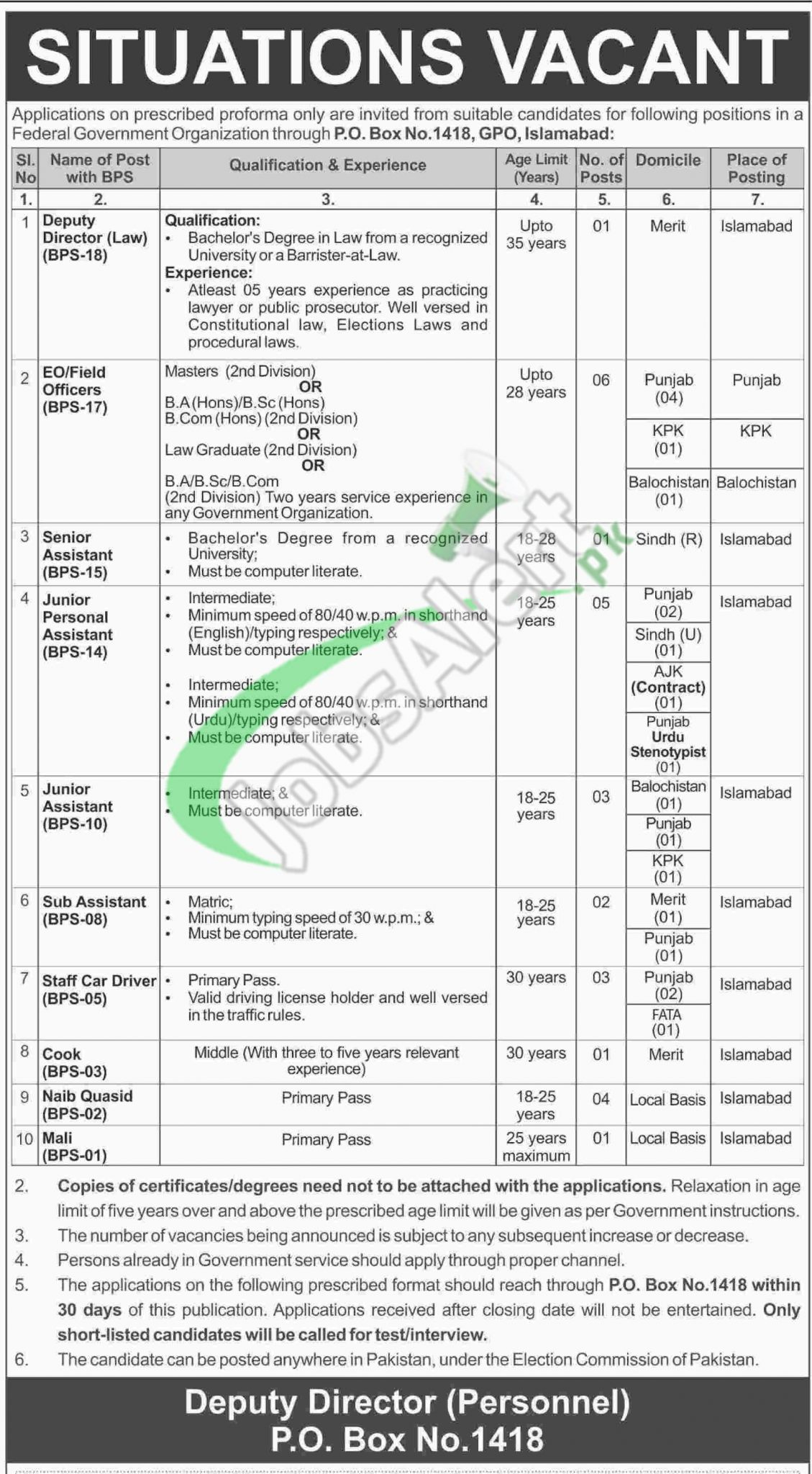 federal government organization jobs 2016 application form federal government organization jobs 2016 application form latest