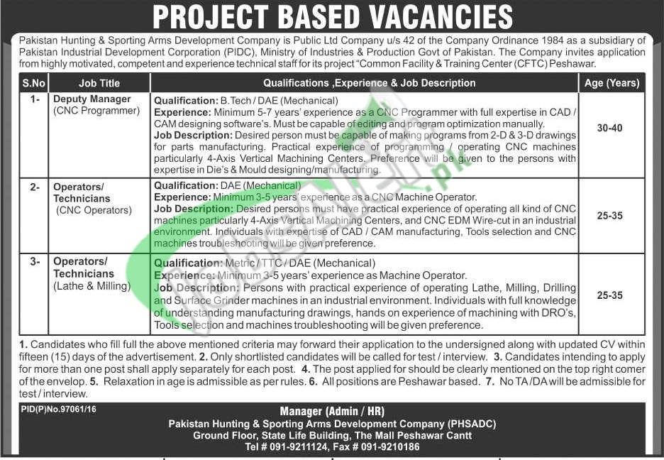 PHSADC Peshawar Jobs