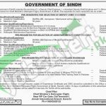 Situations Vacant in Govt of Sindh April 2016 Latest Add
