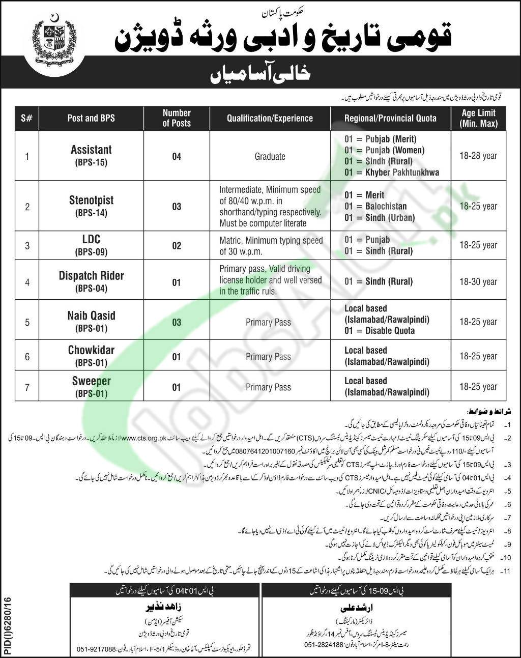 National History and Literary Heritage Division Jobs