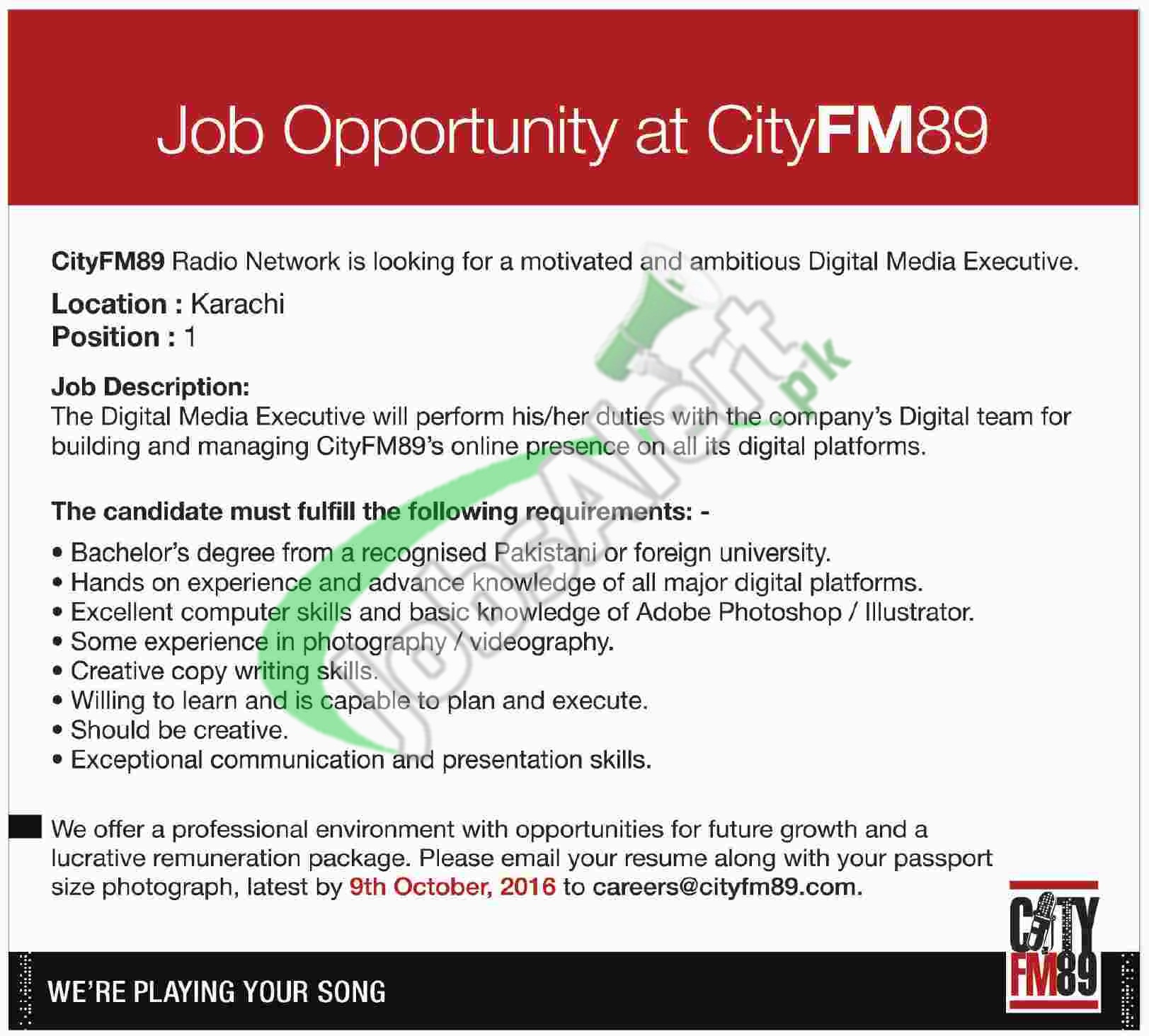 City FM 89 Jobs
