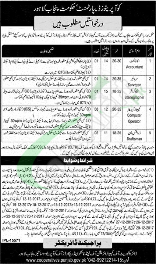 Punjab Cooperative Department Job