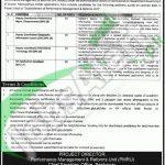 Perfomance Management & Reforms Unit Peshawar Jobs April 2016 Career Opportunities