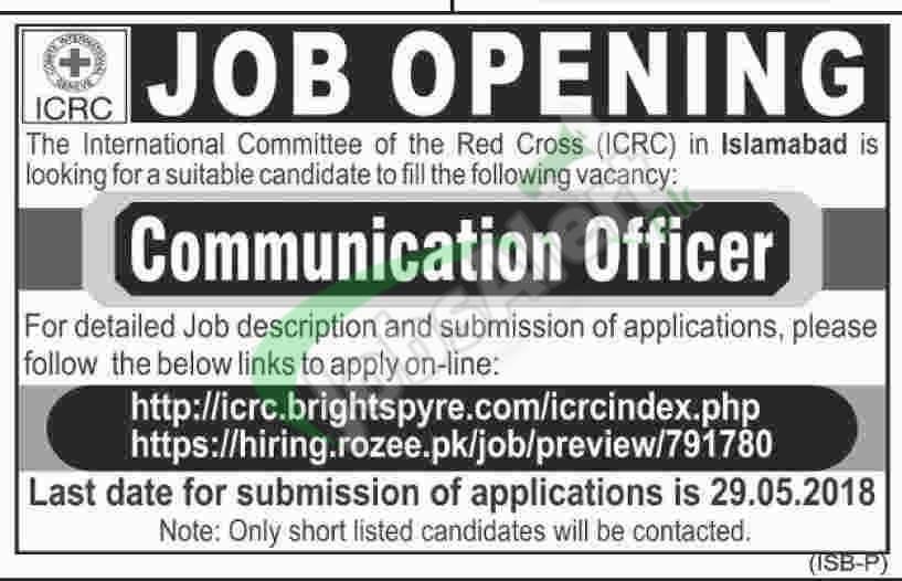 ICRC Pakistan Jobs