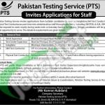 Career Offers in PTS 2016 Application Form For Supervisor Invigilators