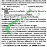 Health Department Balochistan Jobs