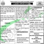 Career Offers in Lahore Division Cattle Market Management Company April 2016