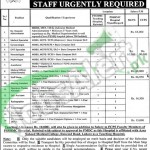 Career Offers in PSSHMC April 2016 Latest Advertisement