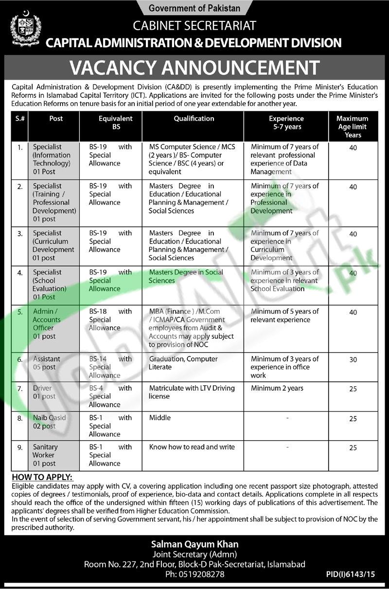Capital Administration & Development Division