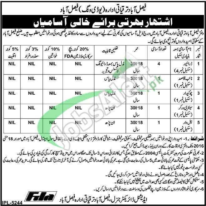 FDA Jobs in Faisalabad