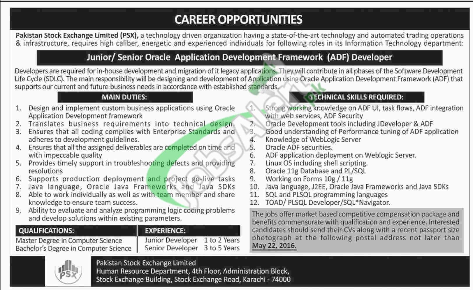 Jobs in Karachi Stock Exchange