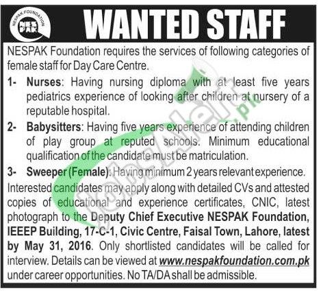 NESPAK Foundation Jobs