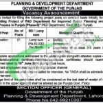 Planning and Development Department Punjab Jobs