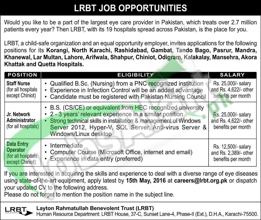 LRBT Jobs
