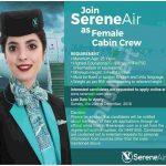 Serene Air Cabin Crew Jobs 2018