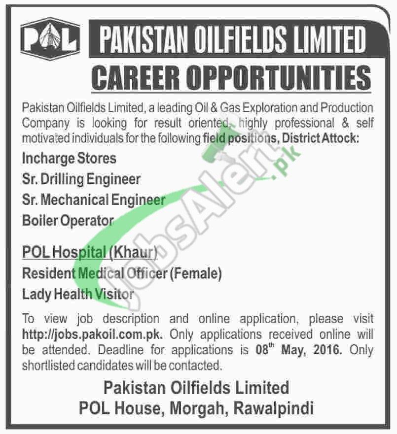 Pakistan Oil Fields Jobs May  Apply Online For Engineer