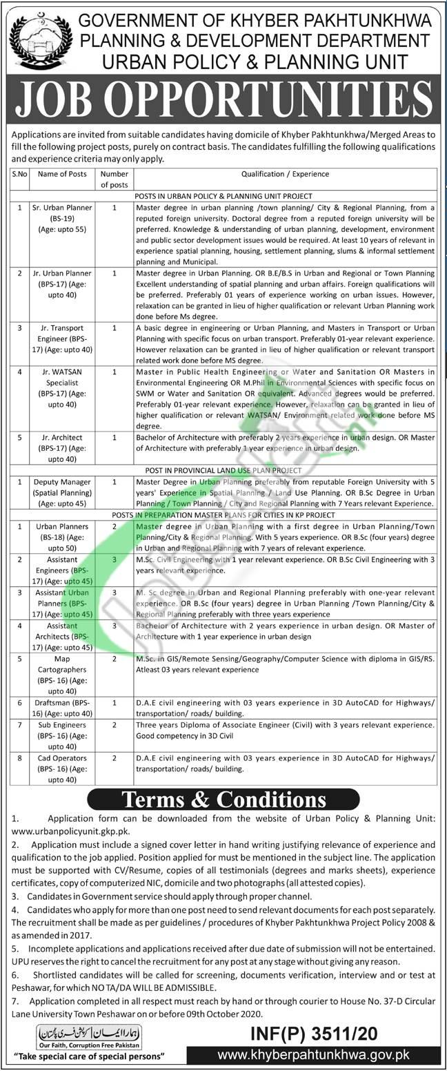 Urban Policy & Planning Unit KPK Jobs
