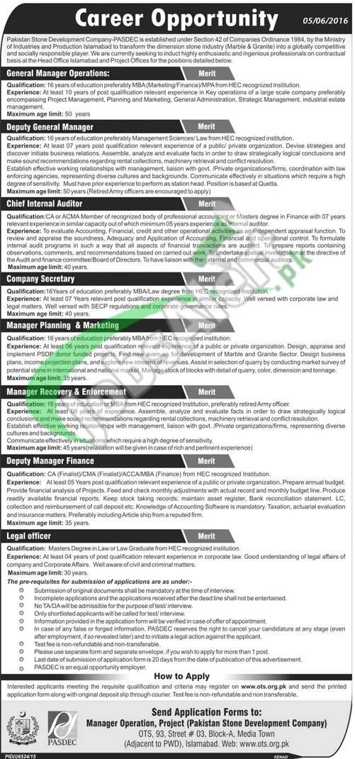 PASDEC Islamabad Jobs