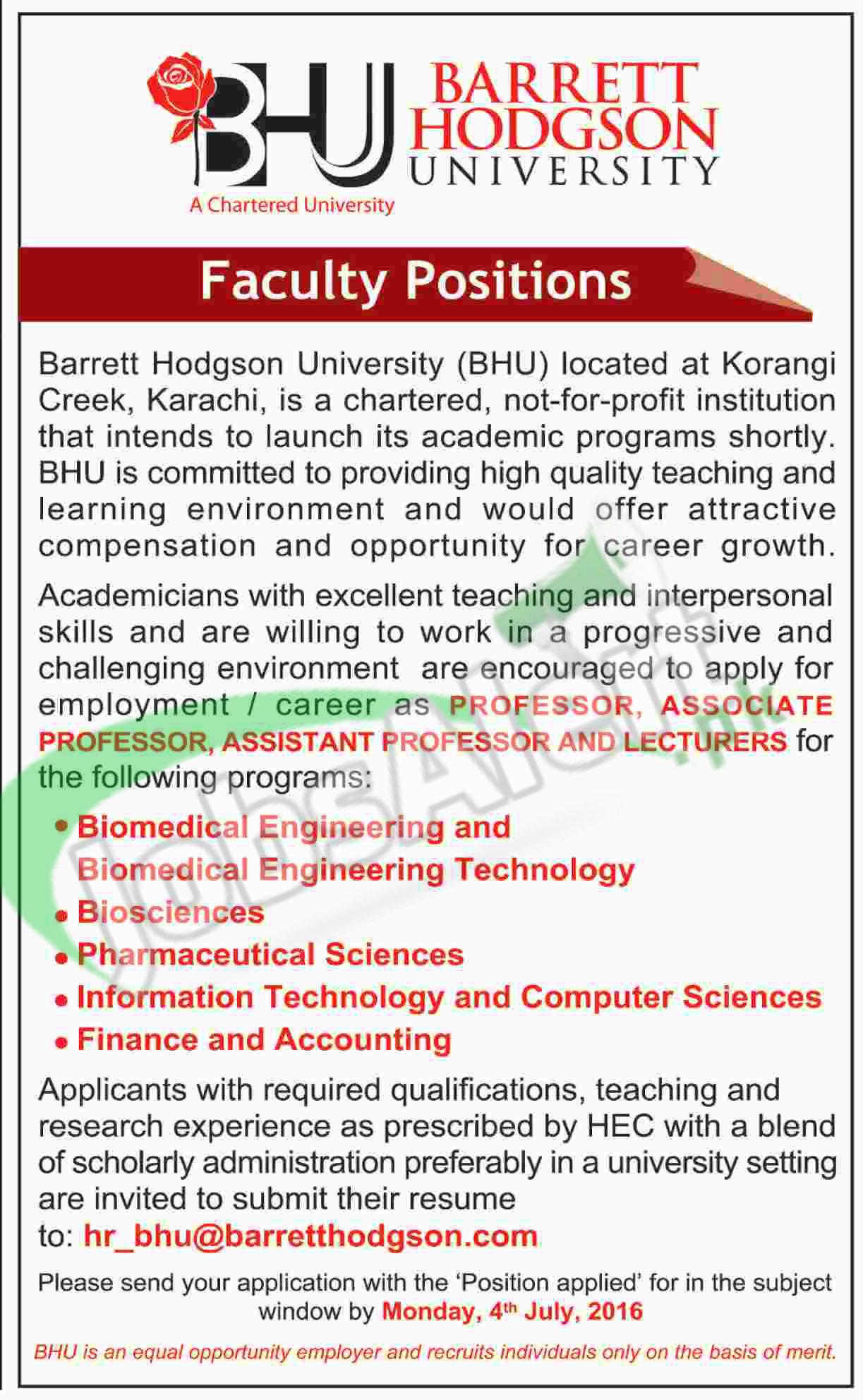 Barrett Hodgson University