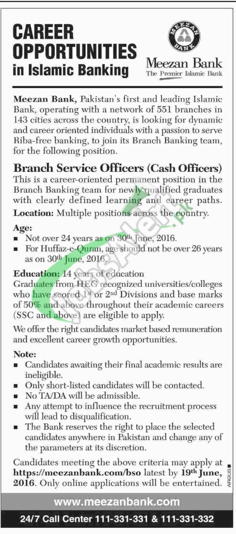 Meezan Bank Jobs