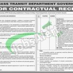 Transport and Mass Transit Department Sindh Jobs