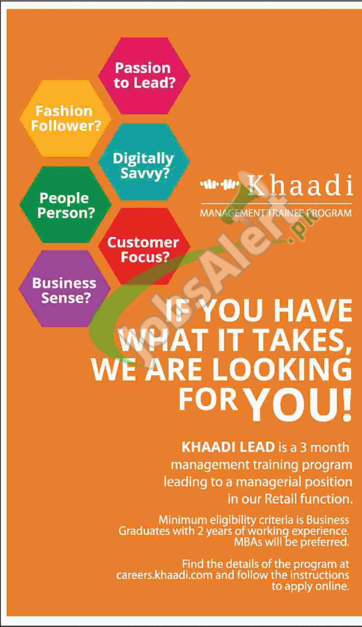 Khaadi Management Trainee Program