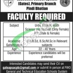 FWO General & Technical Education School System Pindi Bhatian Jobs