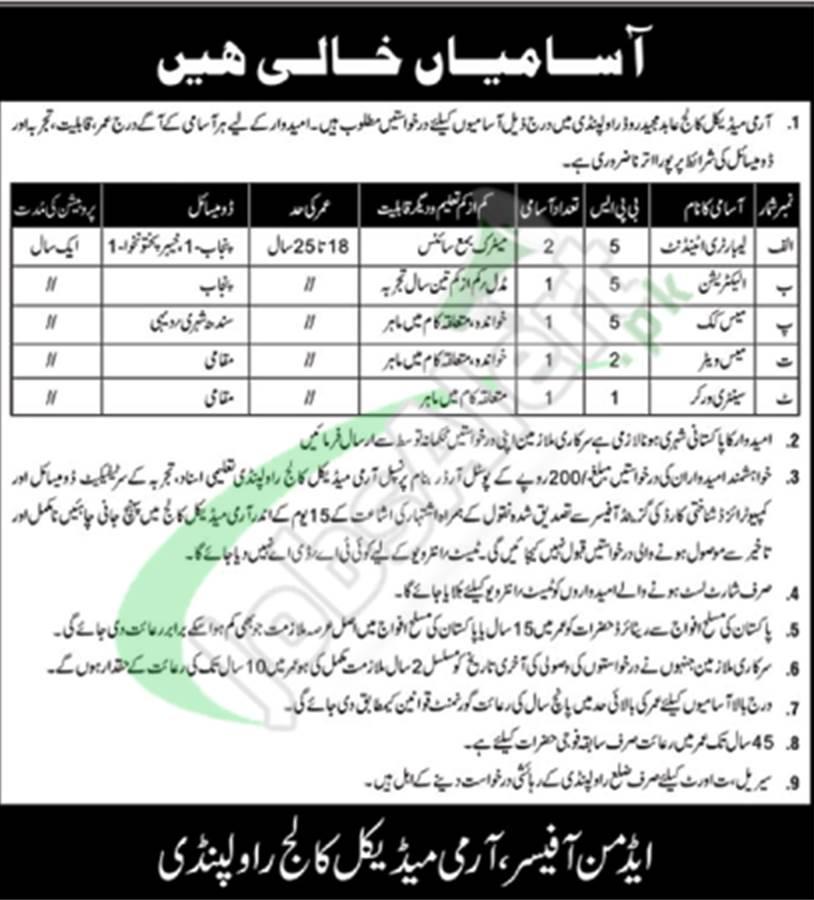 AMC Rawalpindi Jobs