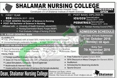 Shalamar Nursing Clg