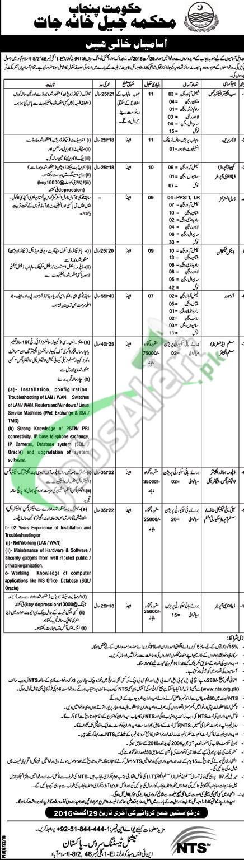 Jail Department Punjab Jobs