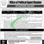 Office of Political Agent Khyber Jobs