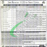 Punjab Emergency Service Rescue 1122 Jobs 2019 NTS Application Form