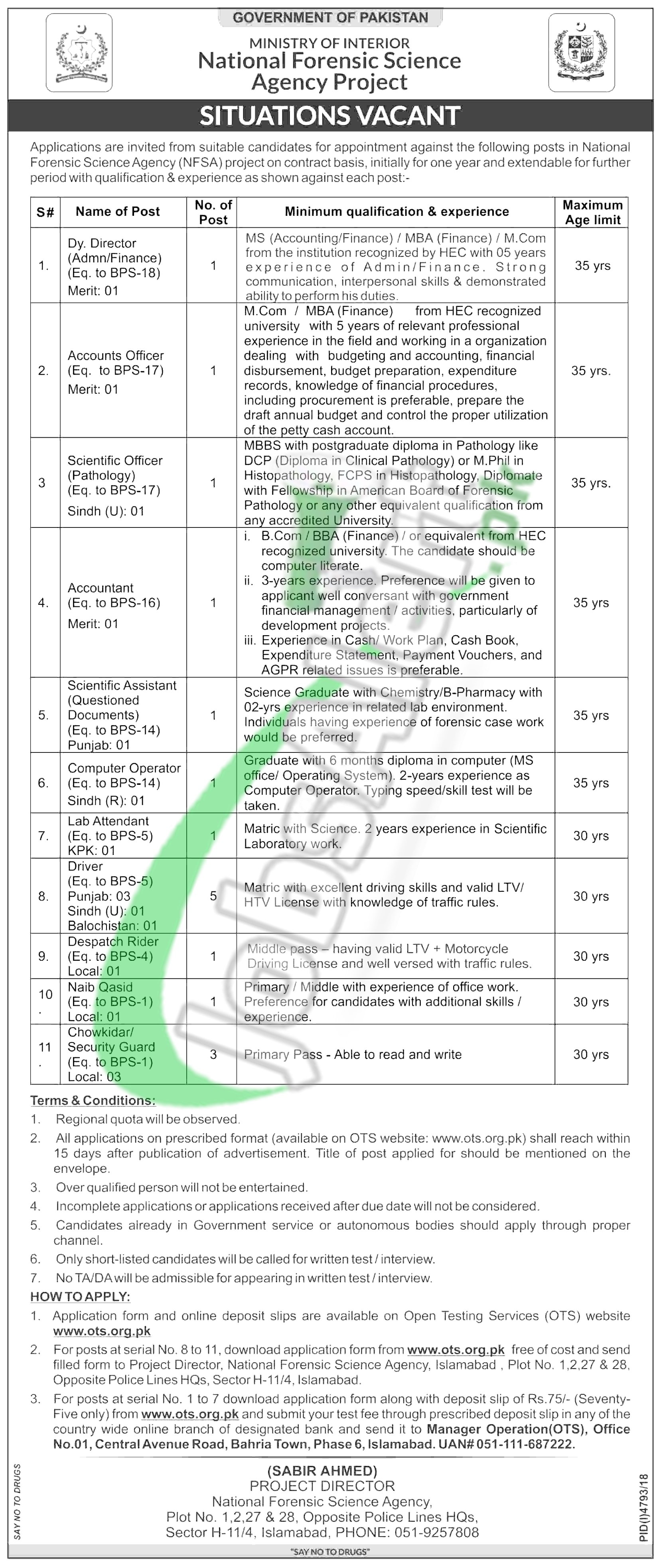 National Forensic Science Agency Jobs