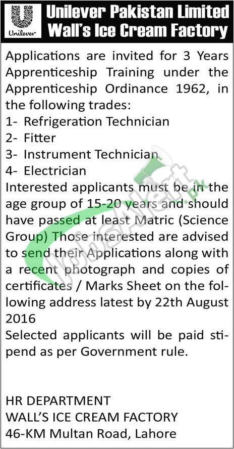 Unilever Apprenticeship Program
