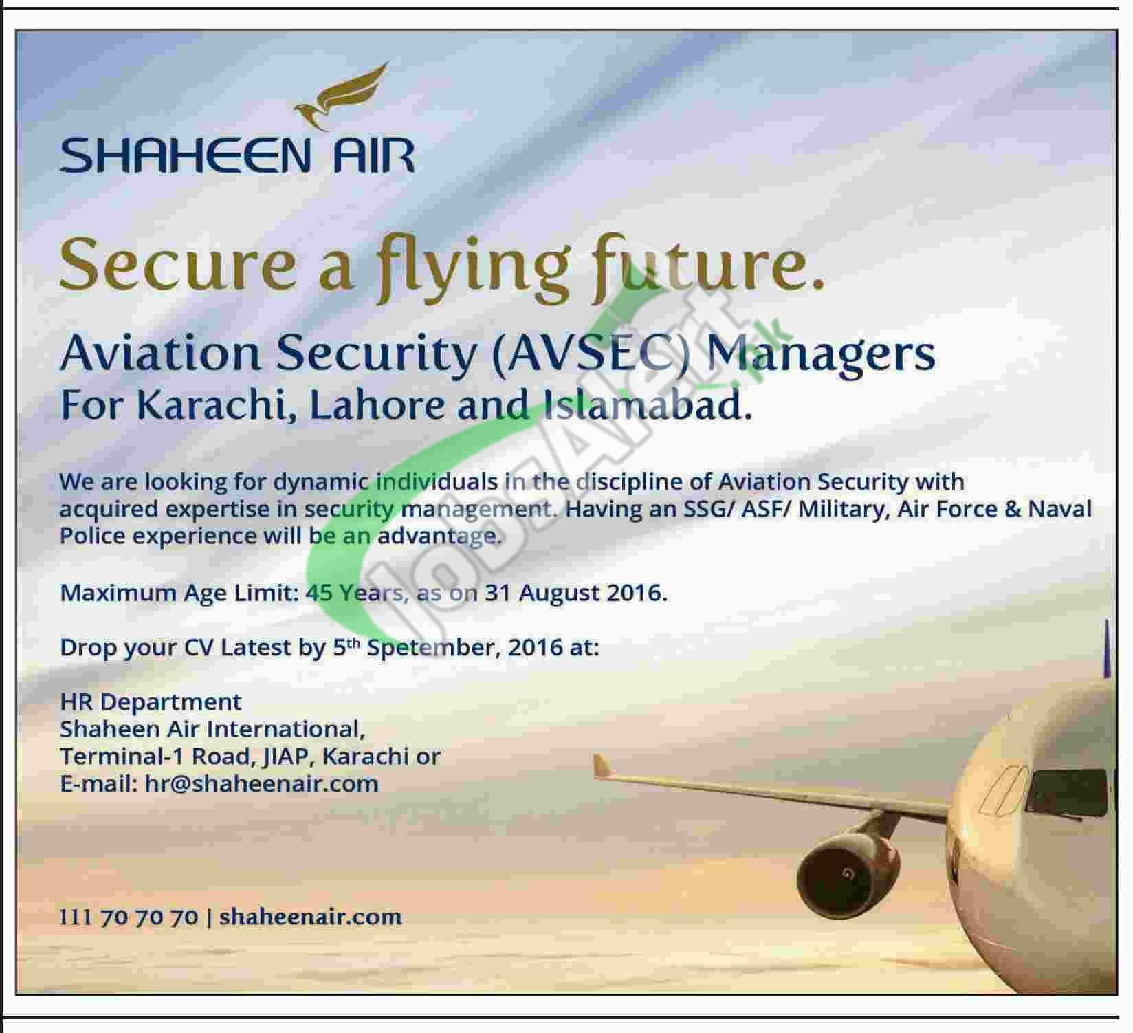Shaheen Airline Jobs