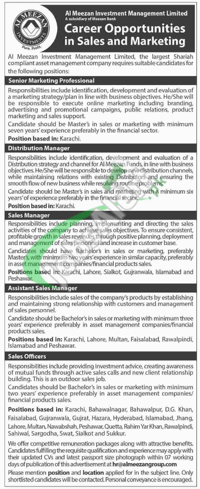 Al Meezan Investment Management Limited Jobs 2016 Apply Online ...