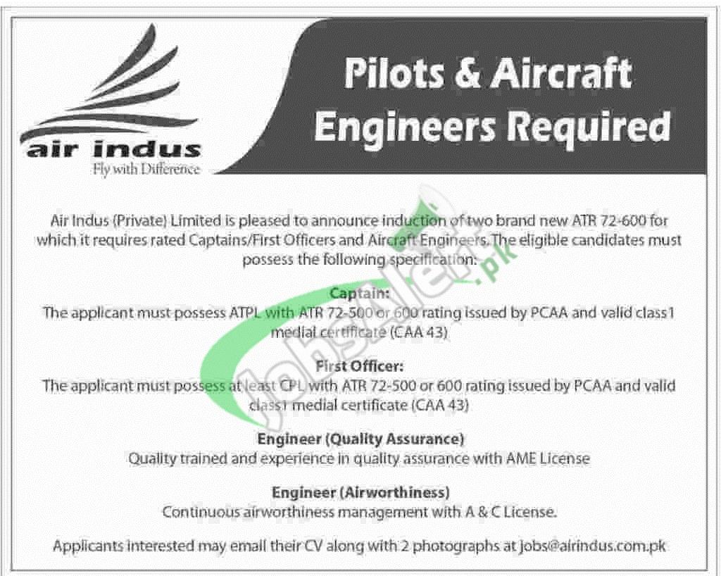 Indus Airline Jobs