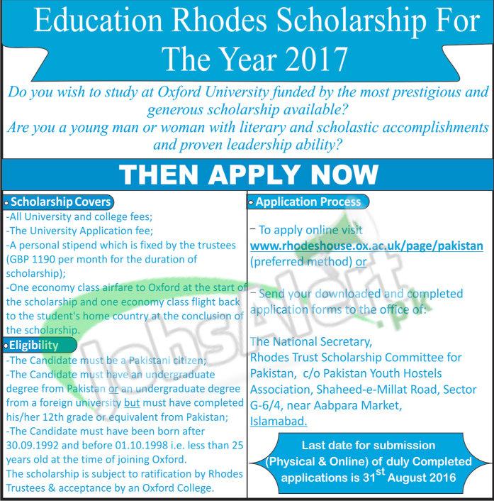 Education Rhodes Scholarship