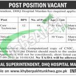 DHQ Hospital Mardan Jobs
