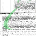University of Poonch Rawalakot Jobs