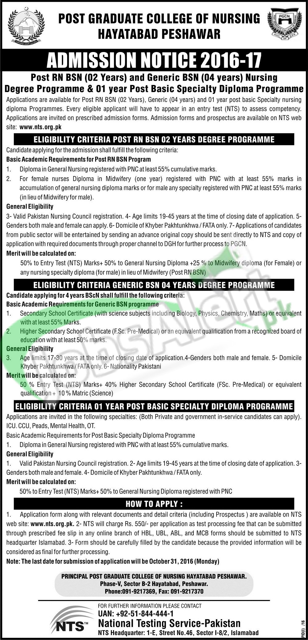 Postgraduate College of Nursing Peshawar