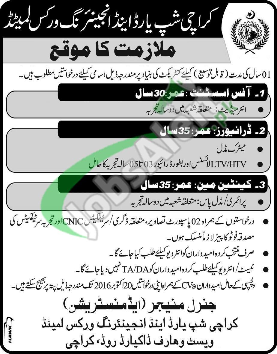 Shipyard Karachi Jobs