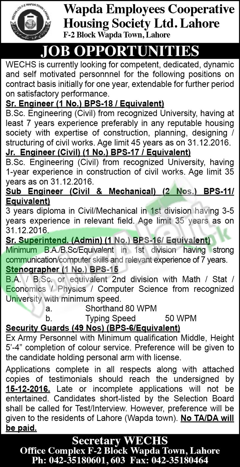WECHS Lahore