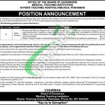 Khyber Teaching Hospital Peshawar Jobs 2021
